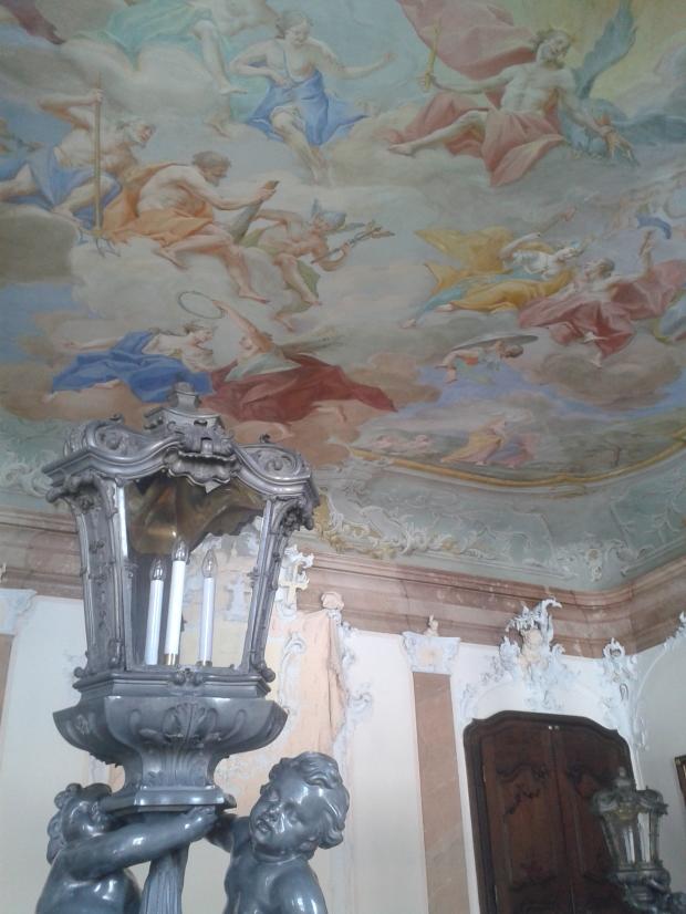 An das Deckenfresko der Würzburger Residenz kommen die Passauer nicht ganz heran, aber zumindest haben sie sich bemüht.
