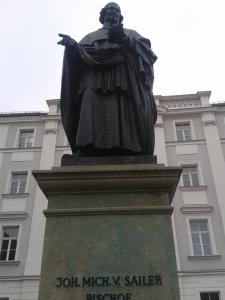 Johann Michael Sailer passt auf die Junggesellen und -gesellinnen auf.