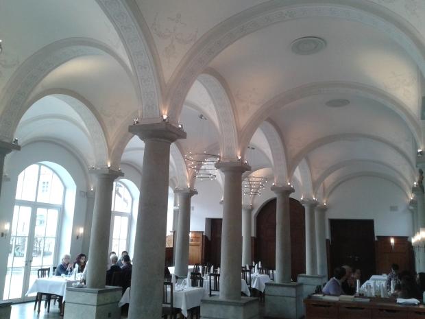 Der Klostergasthof am Morgen danach.