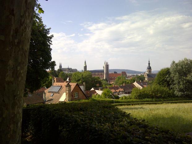 Die schönste Aussicht diesseits des Rio Grande gibt's vom Spezi-Keller in Bamberg.