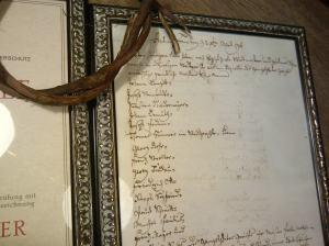 Der Meisterbrief von 1795: Wer entziffert den richtigen Namen?