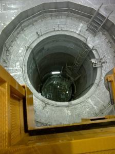 Der Blick in den offenen Reaktor