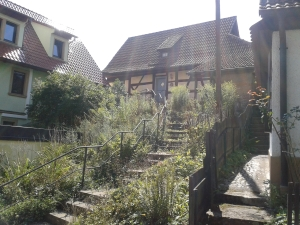 Sogar die Treppen in Mürsbach haben ihren Charme.