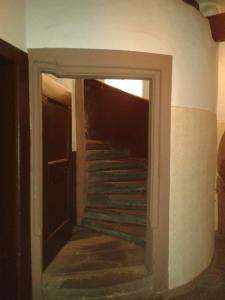Die Wendeltreppe nach oben.