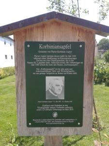 Die Geschichte des Korbiniansapfels.