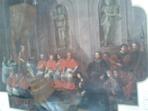 Seine Witwe Alberada von Schweinfurt pilgert zum Papst