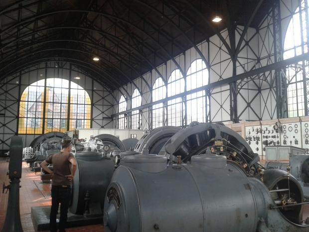 Eine helle, luftige Konstruktion für die Maschinen, bei den Menschen unter Tage sah es ganz anders aus.