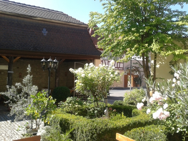 Der Innenhof des Zehnthofes.